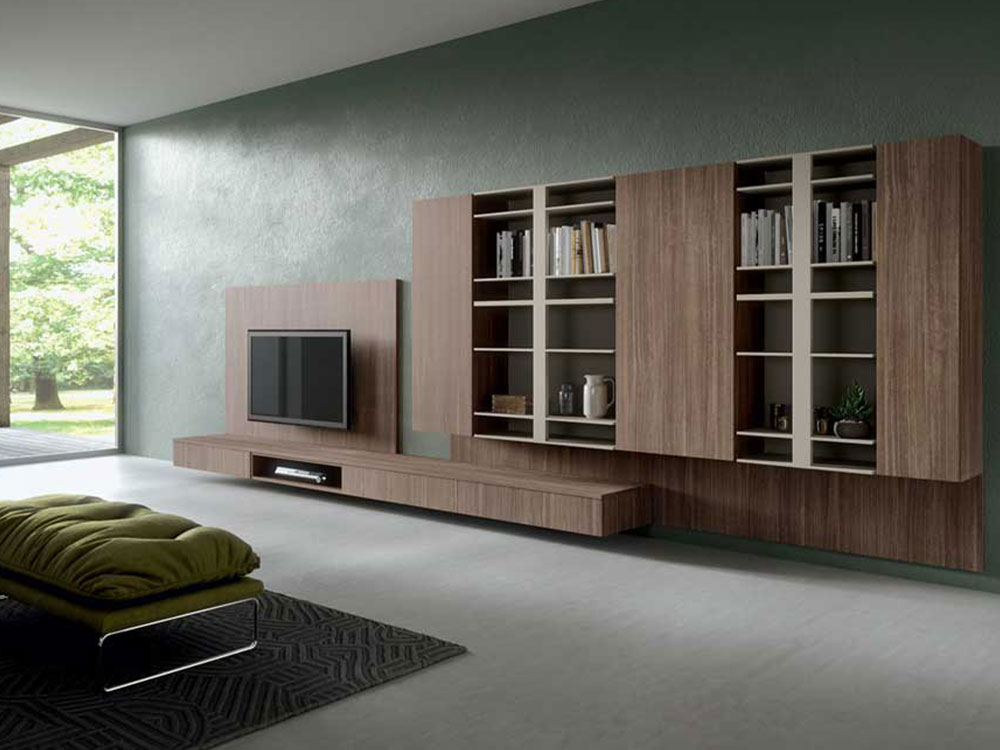 Arredamento living soggiorno open space dallara design for Mobile moderno sala
